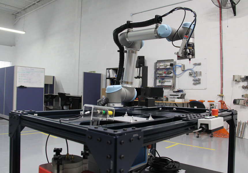 Glue and Cure Robot Retrofit - Dot Automation Vaughan - Automated Machine Process Design Toronto Ontario